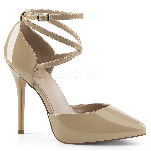 D' Orsay High-Heel Pumps cream Lack mit Riemchen AMUSE-25